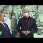Собянин и Садовничий открыли коронавирусный стационар в клинике МГУ