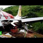 Пассажиры развалившегося при посадке самолета выжили при нулевых шансах на спасение