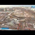 В Невском районе рухнула бетонная труба котельной